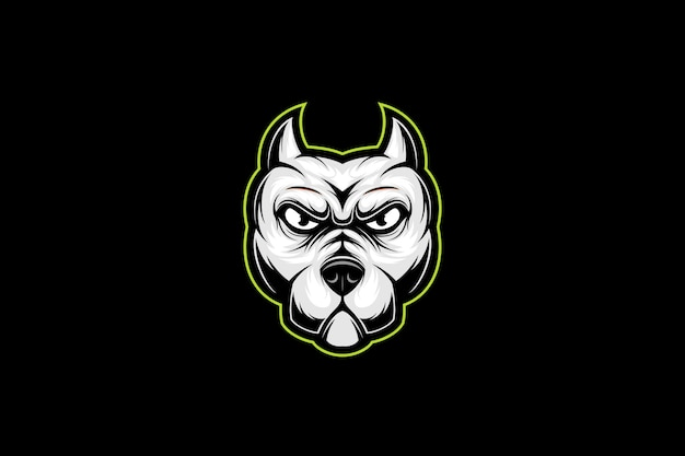 Pitbull head esport logo