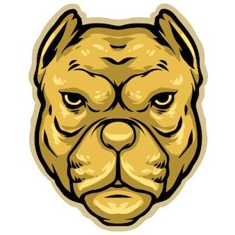 Pitbull kopf maskottchen design