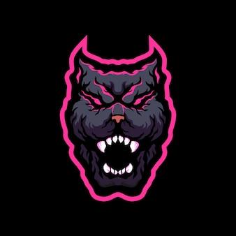 Pitbull maskottchen logo design