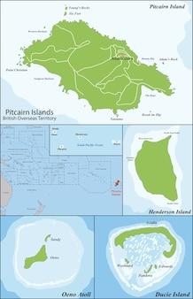 Pitcairninseln karte