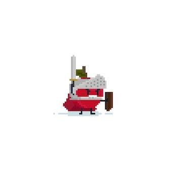Pixel apfel ritter