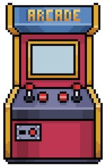 Pixel art arcade-videospiel 8-bit-spielgegenstand auf weißem hintergrund