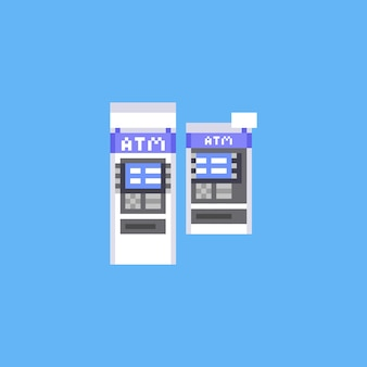 Pixel art atm icon design.