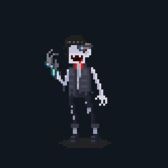 Pixel art cartoon zukünftige vampirfigur