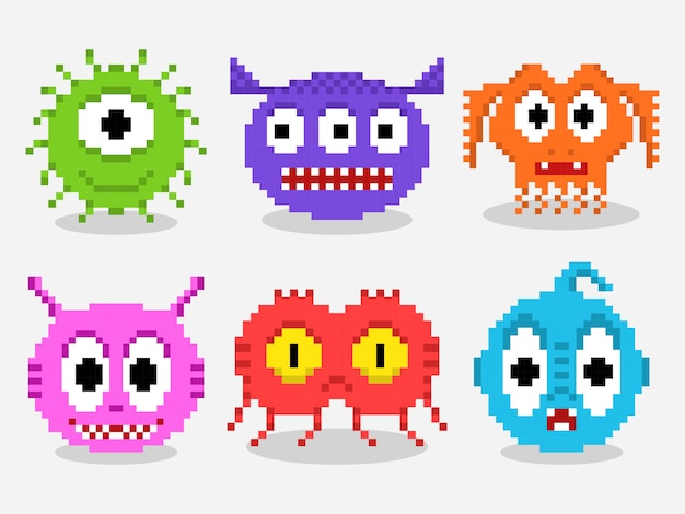 Pixel art monster