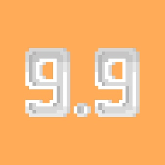 Pixel art nummer 99 symbol