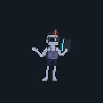 Pixel art zukünftiger mumie-punk-charakter