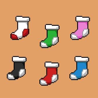 Pixel bei sockenset mit anderer farbe
