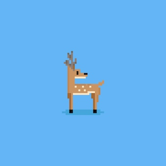 Pixel, die zurück rotwild schauen.