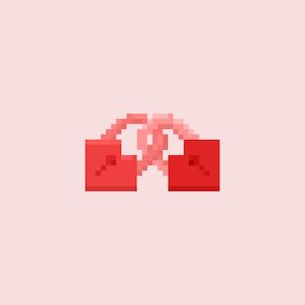 Pixel-doppelherzschloss
