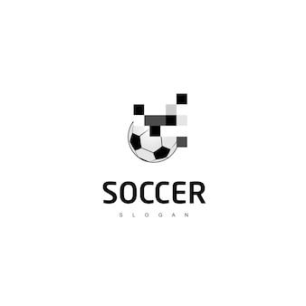 Pixel-fußball-logo