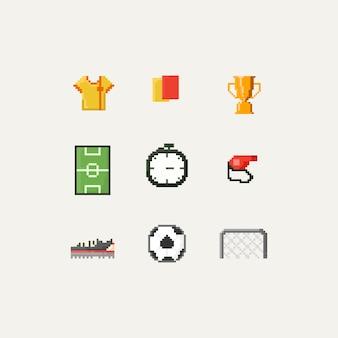 Pixel fußballelemente.