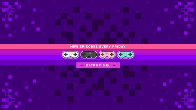 Pixel gaming youtube kanal kunst