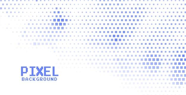 Pixel-halbtonhintergrund in blauer farbe