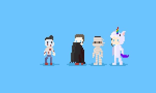 Pixel halloween charakter.