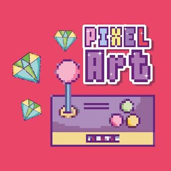 Pixel kunst cartoon-konzept