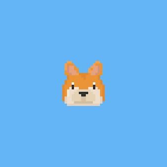 Pixel kunst shiba inu kopf