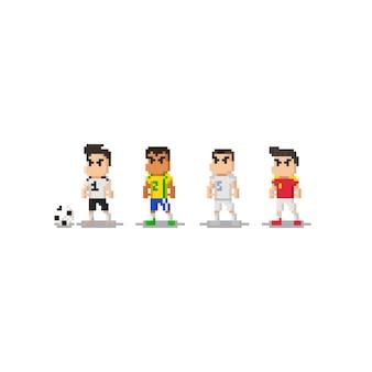 Pixel mini-fußballspieler