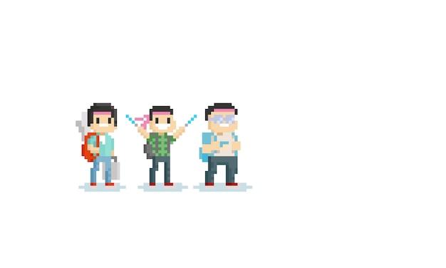 Pixel otaku charakter
