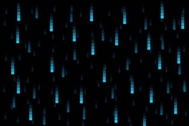 Pixel regen abstrakten hintergrund