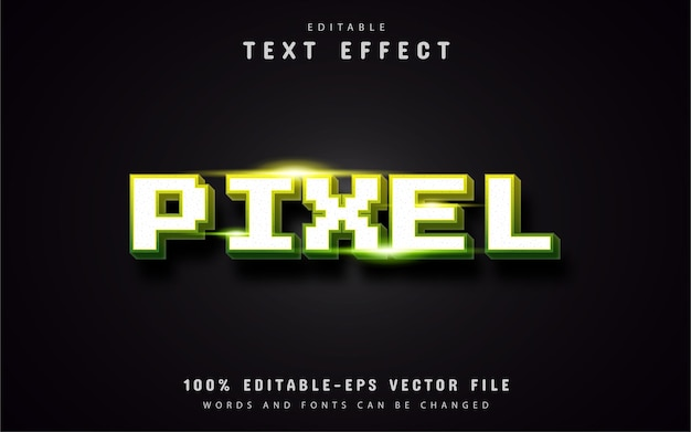 Pixel-texteffekt