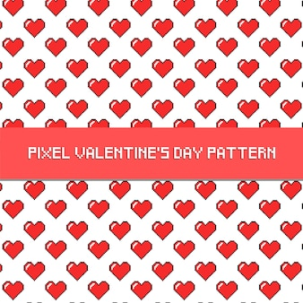 Pixel-valentinstag-muster