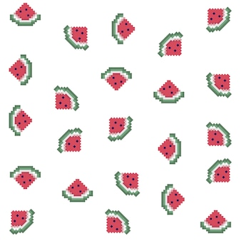 Pixel-wassermelonenmuster