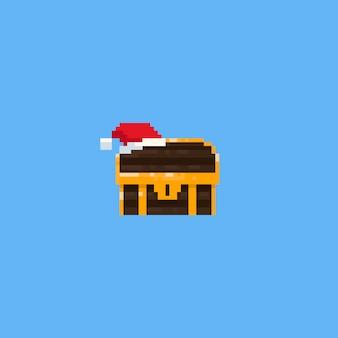 Pixel weihnachtsschatztruhe.8bit.