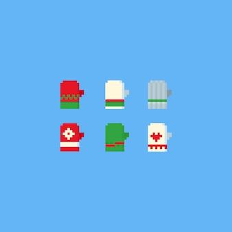 Pixel-winterhandschuhset