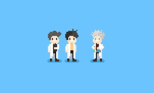 Pixel wissenschaftler charakter