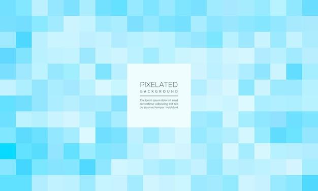 Pixelated blauer himmel farbhintergrund abstrakte geometrische unschärfeoberfläche