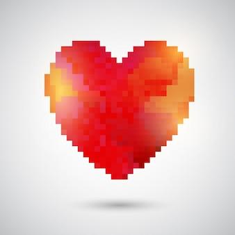 Pixelated herzentwurf für valentinstag