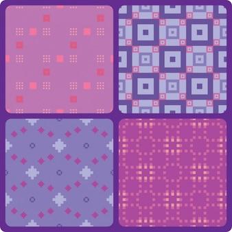 Pixelated-muster-sammlung