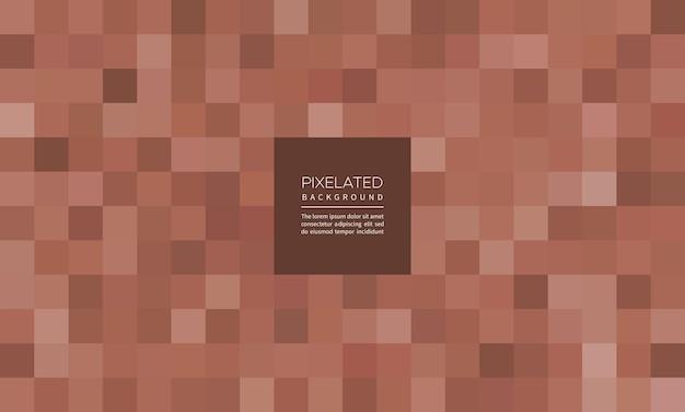 Pixelated roségoldfarbener abstrakter geometrischer unschärfehintergrund