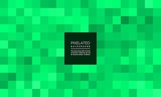 Pixelated smaragdfarbe abstrakter geometrischer unschärfehintergrund