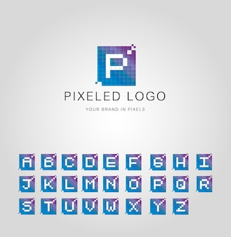 Pixeled logo