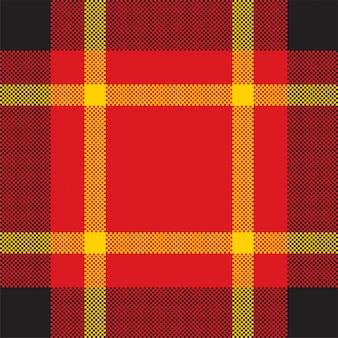 Pixelhintergrundvektorentwurf. modernes nahtloses musterplaid. quadratischer texturstoff. tartan schottisches textil. schönheitsfarbe madras ornament.