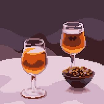 Pixelkunst des luxusgetränkglases