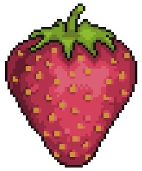 Pixelkunst erdbeerfruchtartikel für spielbit