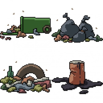 Pixelkunst isoliert müll