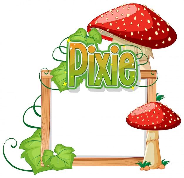Pixie-logos mit leerem rahmen