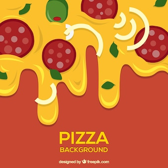 Pizza abendessen