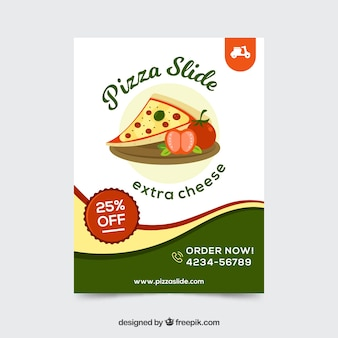 Pizza-angebot broschüre