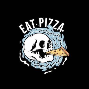 Pizza essen auf den wellen premium