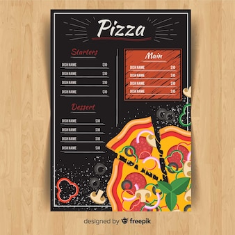 Pizza-flyer-menü