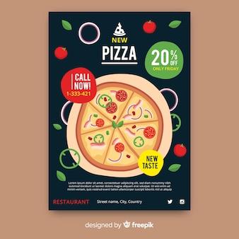 Pizza-flyer-vorlage