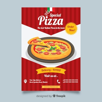 Pizza-flyer-vorlage