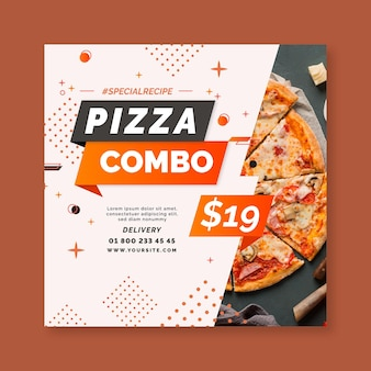Pizza flyer vorlage
