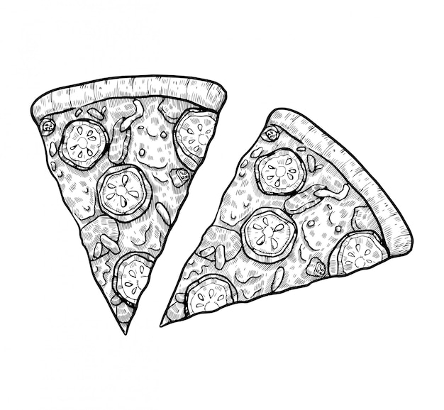 Pizza handgezeichnet