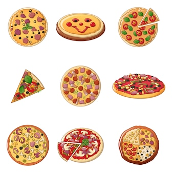 Pizza-icon-set